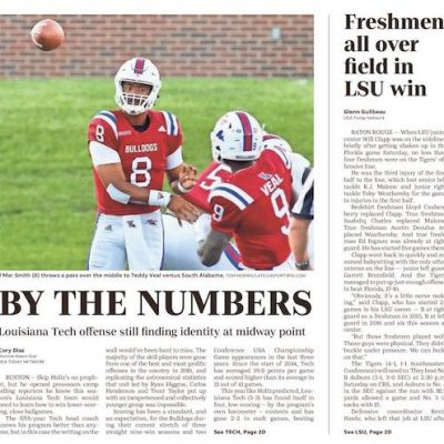 By the numbers: Louisiana Tech offense at midway point