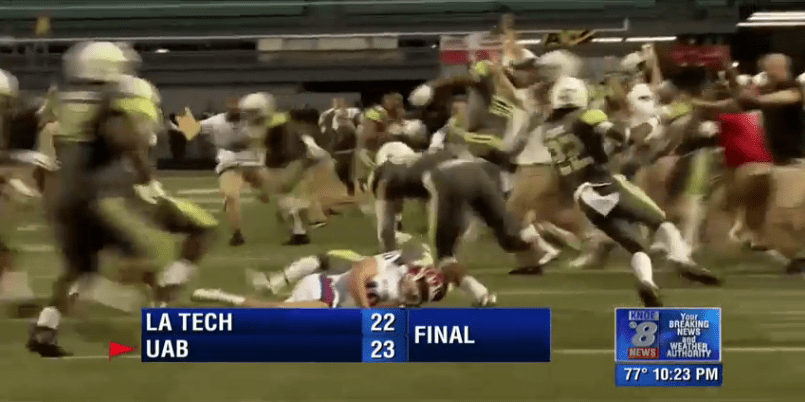 UAB's late FG block preserves 23-22 win over La. Tech