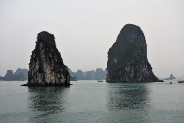 Limestone Karsts in Ha Long Bay