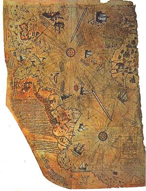 OOPArt: Piri Reis, l'enigma di un'antica carta nautica