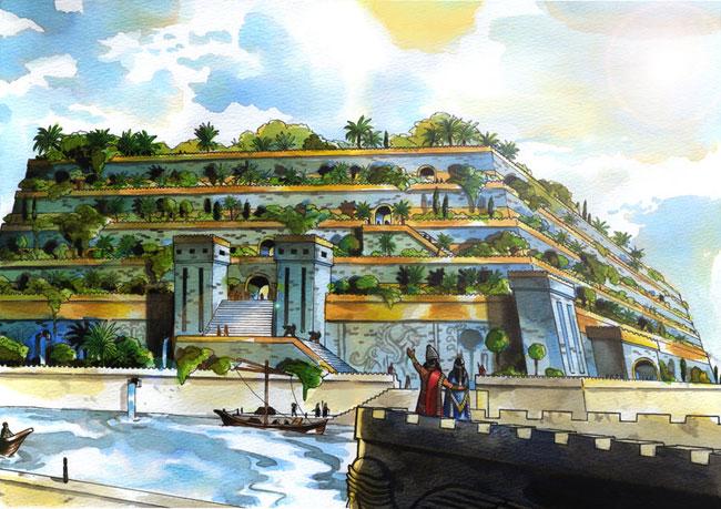Risultati immagini per giardini pensili di babilonia