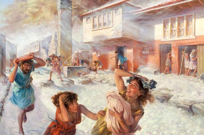Su Pompei ed Ercolano piove di tutto