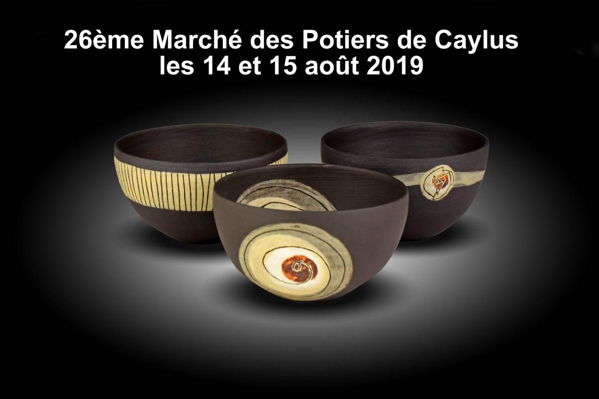 Marché des Potiers de Caylus les 14 et 15 août 2019