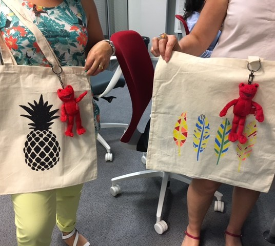 atelier customisation tote bag tropical