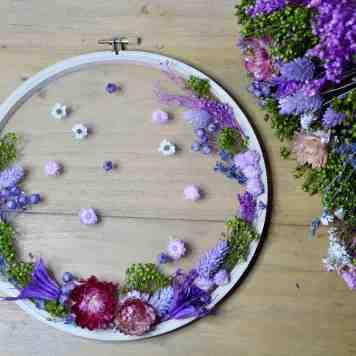 atelier diy tambour de fleurs sechees