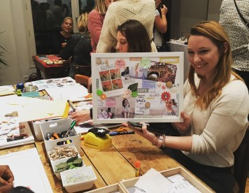 ateleir diy vision board tableau de visualisation