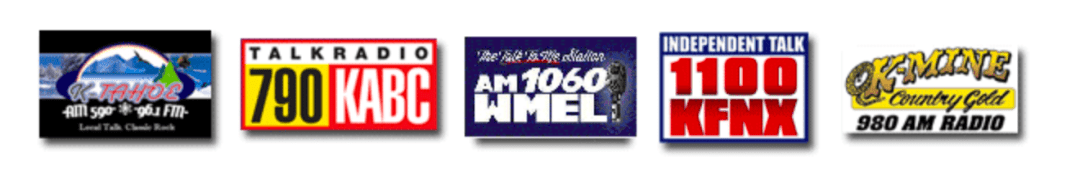 tahoew 96.1, KABC Radio, AM 1060 WMEL, K-Mine Country Gold 980 AM Radio