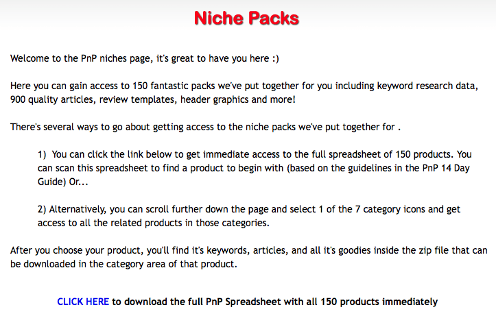 Plug and Play Niche Cash Review Graphics