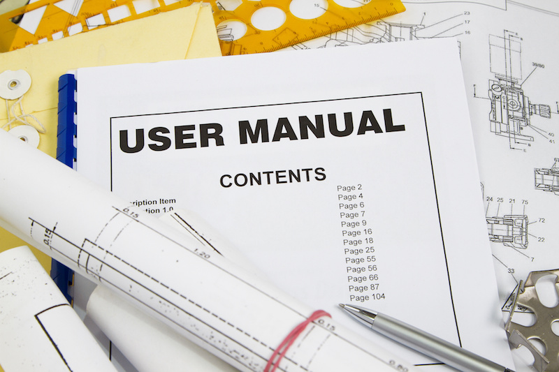 best year ever User manual guide brochure with blueprint and pencil