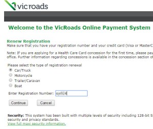 A quick check if rego is paid by offering to pay it.  It won't allow you if it is already paid up.