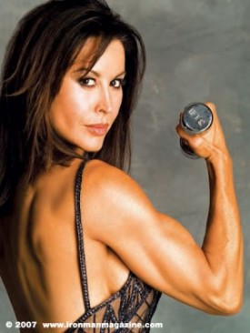 The beautiful Rachel McLish, age 50, in Muscle and Fitness magazine via LaterBloomer.com