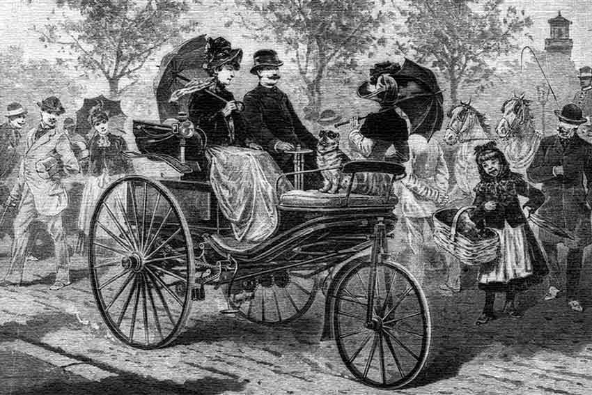 Mrs. Benz Borrows The Car