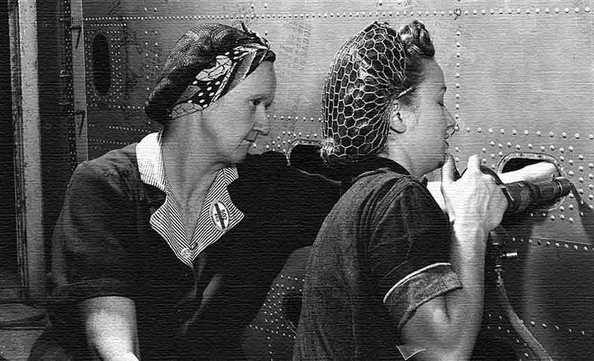 Rosie the Riveter Learns To Fly