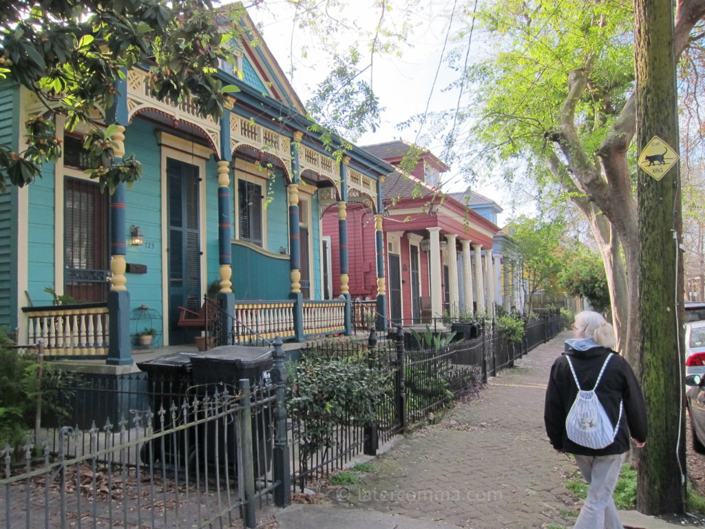 Restored homes in the Marigny neighborhood.