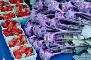 Strawberries sell well. Kohlrabi, a cultivar of cabbage, is popular in many parts of the world and is now grown near Athens.