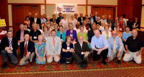 July is always a time for reunions—here is a 50-year high school reunion in Blacksburg, Virginia. This class comes together every five years.
