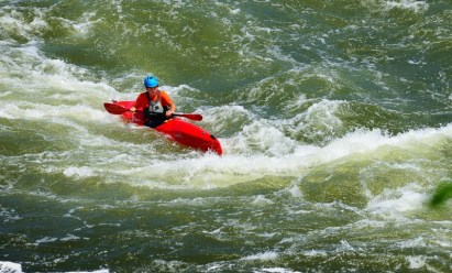 Perhaps this fellow is an older version of the boys we saw earlier: kayaking on the Potomac River.