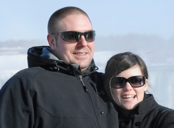 Surrogates for Ed and Emily; a young couple at Niagara Falls in Jan. 2010.