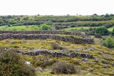 Besides green, Ireland is noted for rocks and rock walls. As you drive around Ireland and see such walls almost as often as people and homes, you must wonder about the months and years of labor embodied in every wall.