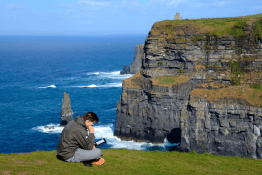 Stress-free time at The Cliffs of Moher.