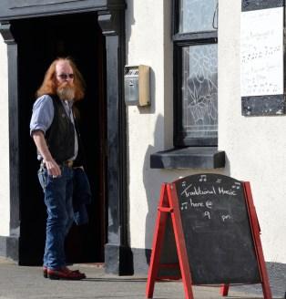 On break at a pub in Doolin, a legendary spot for Irish music.