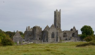 Franciscan Friary in Quinn, which was constructed gradually over several decades in the 1300s. A Franciscan Friary was established at the site in 1433, and it was last inhabited by a lone Fr. John Hogan of Drim, who died at the Friary in at age 80 in 1820. Today it is a State-run site with one firm, rule-oriented State Official guarding against any excesses of occasional tourists.