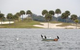 Golf course bordering Lake Sumter