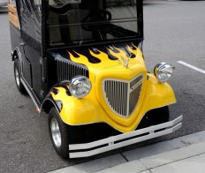 Many owners customize their carts, often indulging fantasies from years ago
