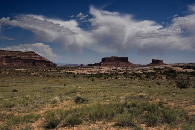 In the Colorado River valley west of Arches National Park.