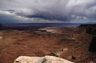 Storm brewing over the Colorado River valley.