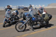 Motorcycles are as popular as bicycles throughout much of the West. This shot is from western Colorado.