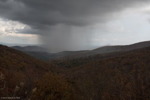 Storm over the mountains in North Georgia