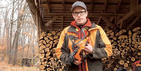 François Bourdoncle est entraîneur d'abattage pour l'Association des propriétaires de boisés de la Beauce depuis près de 20 ans. Crédit photo: Gracieuseté de Maple et Torches
