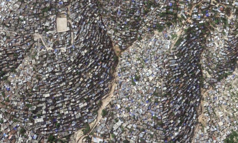 Vue du ciel des taudis de Port-au-Prince à Haïti, l'un des pays les plus pauvres au monde