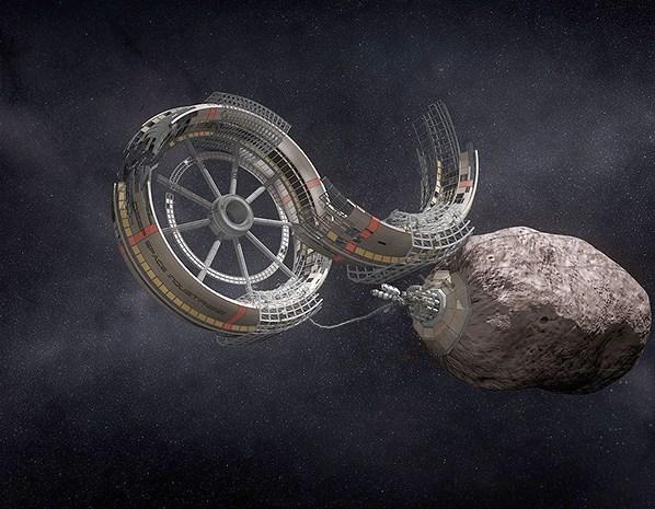 astéroïde-mine