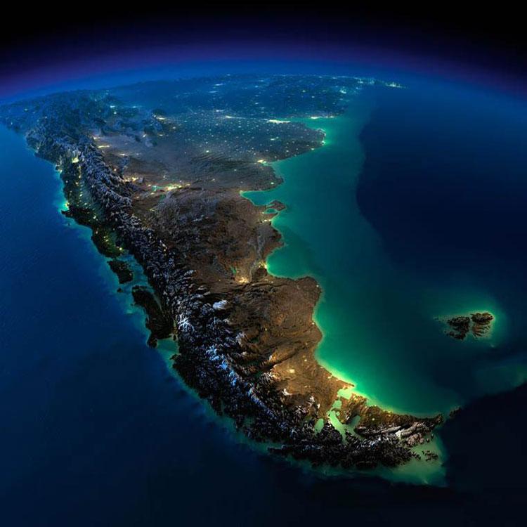 Terre-espace-nuit-nasa