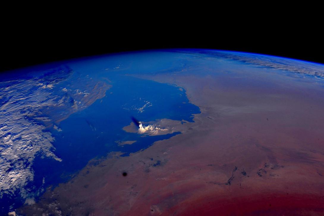 formation d'un nuage au-dessus du Qatar, le 2 novembre 2015