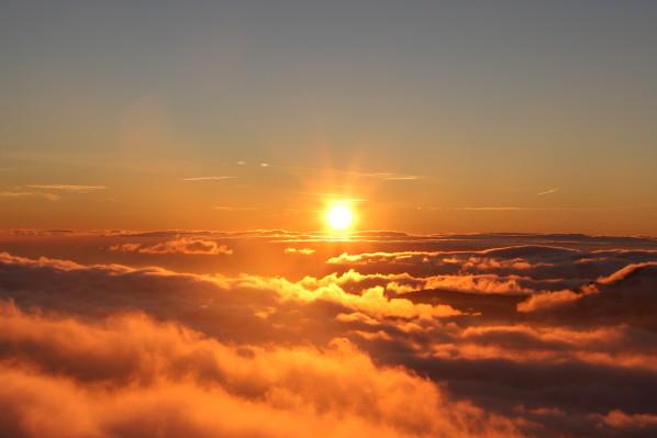 Nuages coucher de soleil la terre du futur - Heure du lever et du coucher du soleil ...