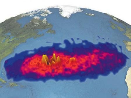 ocean atlantique de déchets