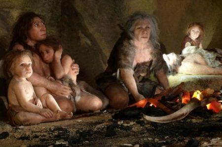 neandertal famille