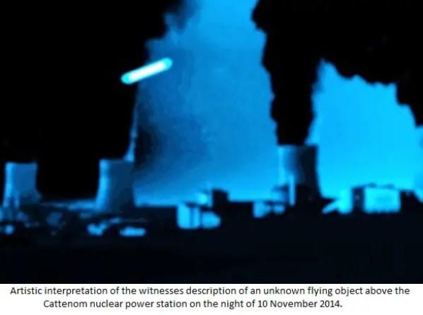 Vários OVNIs / UFOs são avistados sobrevoando usinas nucleares na França e na Bélgica 1