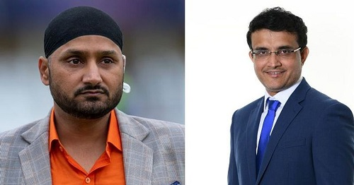 Harbhajan and Sourav Ganguly