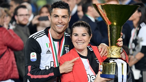 Cristiano Ronaldo with mother