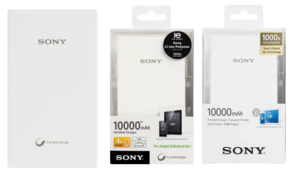 Sony CP-V10 10000 mAh Top 10 Power Banks in India