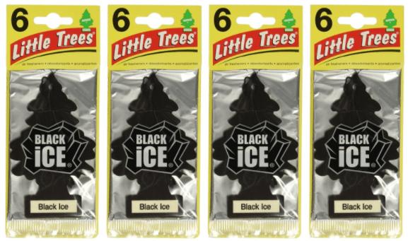 Little-Trees Black Ice Air Freshener