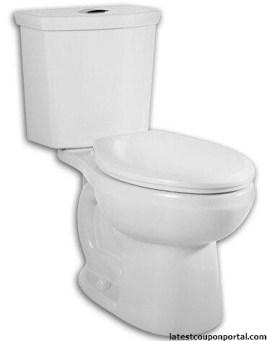 H2Option Siphonic Dual Flush Round Front Toilet