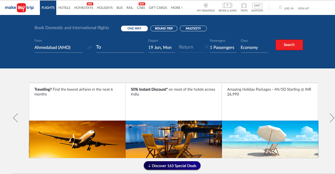 you can check out makemytrip hotels coupons at the time of making payment so that you can get a discount on booking your hotel ticket