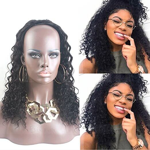 Curly Wave Half Wig For Black Women