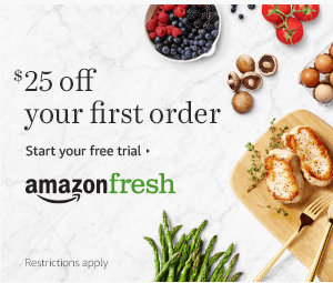 Amazon Fresh $25 OFF on first order