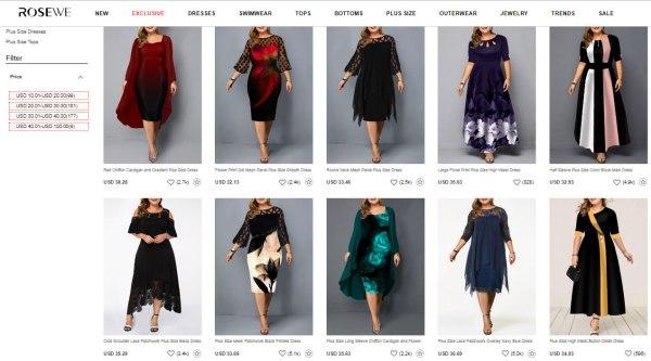 rosewe plus size Dresses & Swimwear dress